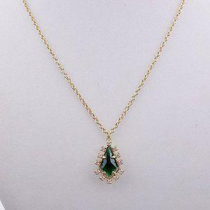 Kate Spade Green Zircon Diamond Necklace